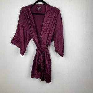 Victoria's Secret Purple Plum Satin Robe